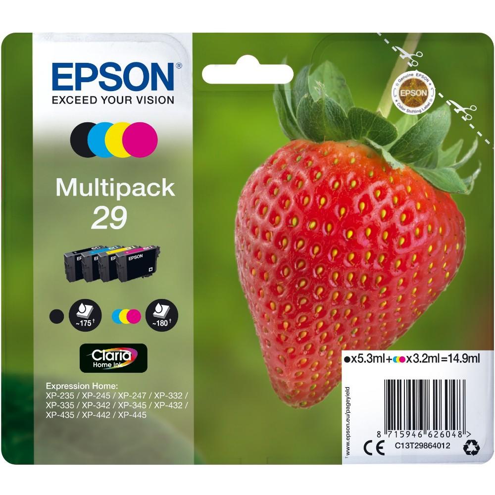 epson 29 c13t29864012 multipack 4er pack bk c m y. Black Bedroom Furniture Sets. Home Design Ideas