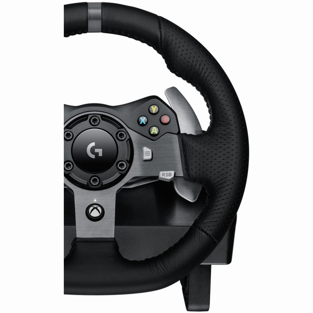logitech g920 driving force wheel pc xbox one gaming. Black Bedroom Furniture Sets. Home Design Ideas
